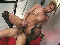 Giving her ass a workout