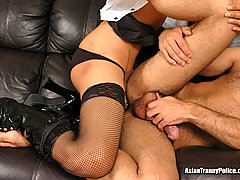 Sexy Tranny Always Gets Her Man (and Fucks Him!)
