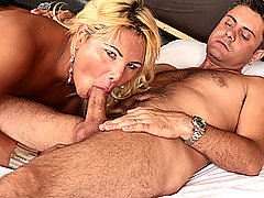 Tranny Milf Swallows Her Man's Hot Cream
