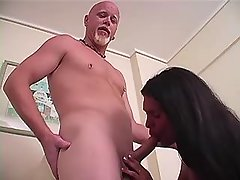 Chesty latin shemale throats cock